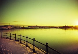 Cardiff Bay in the Snow