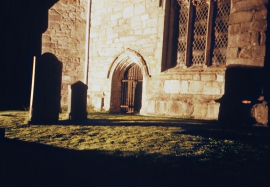 Cartmel Priory graveyard