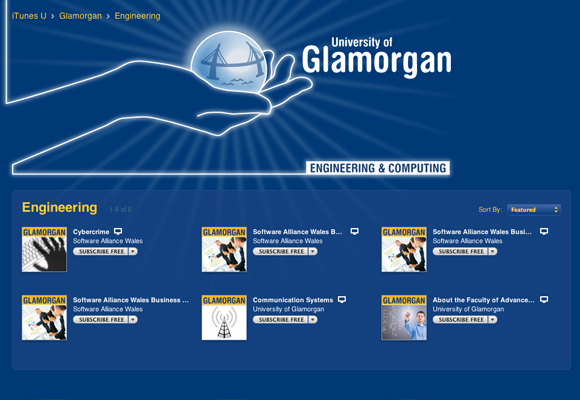 Glamorgan's iTunes U engineering content page