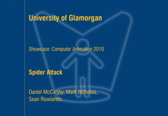Glamorgan Student Showcase title screen