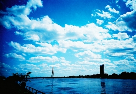 Radio and TV Tower across the Daugava River, Riga