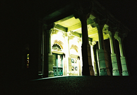 Brighton Dome Side Entrance at Night