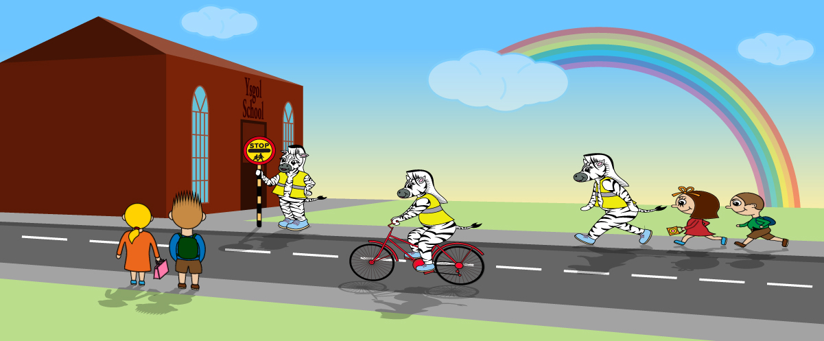 Illustration for Rhondda Cynon Taff schools road safety campaign